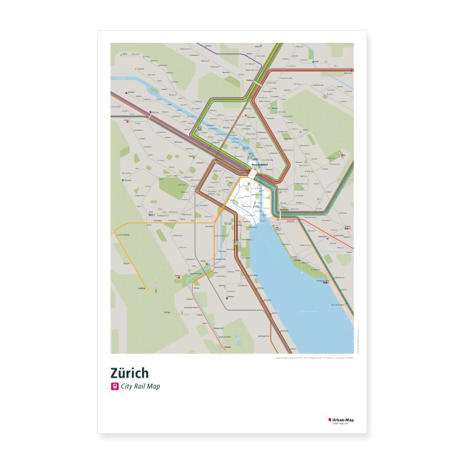 Zürich Rail Map