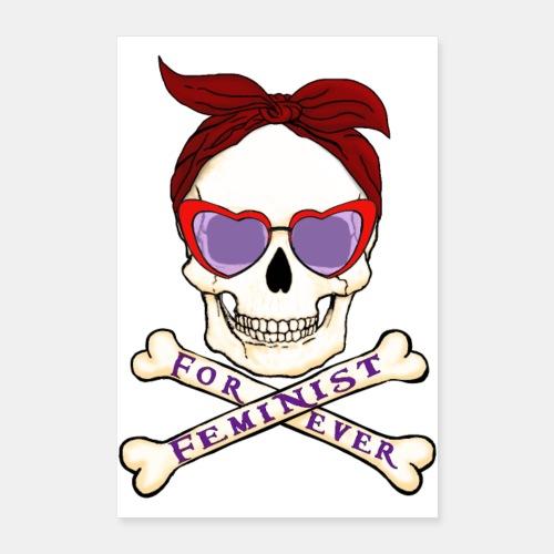 Feminist skull - Póster 60x90 cm