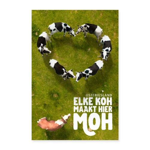 Ostfriesland Travel Poster - Kuh und Milch - Poster 60x90 cm