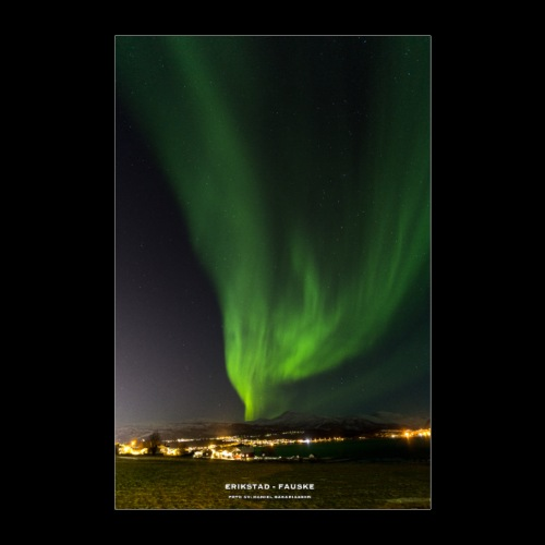 Nordlys - Fauske - Poster 60x90 cm