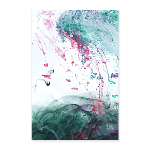 Ocean Ink - Alcohol Ink Abstract Modern - Poster 24 x 35 (60x90 cm)