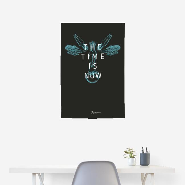 """Poster """"The Time Is Now"""" (Cow Edition)"""