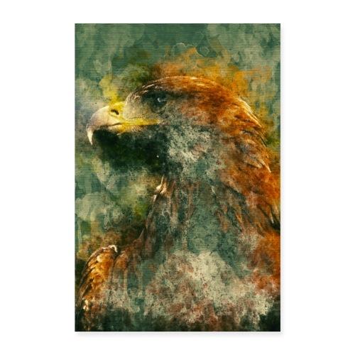 Eagle Aigle Poster - Poster 60 x 90 cm