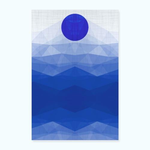Ein Tag Am Meer Minimalismus Aquarell - Poster 24 x 35 (60x90 cm)