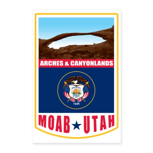 Utah - Moab, Arches & Canyonlands - Poster 24 x 35 (60x90 cm)