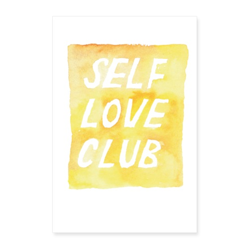 brushmeetspaper Self Love Club 60x90 - Poster 60x90 cm