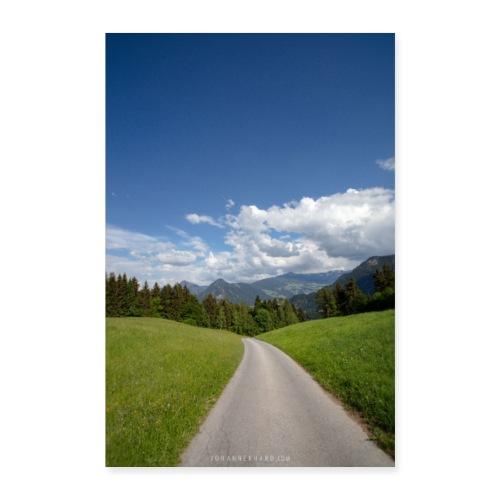 Weg ins Zillertal - Poster 60x90 cm