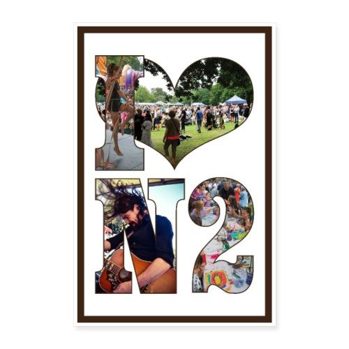 I love N2 Festival Poster - Poster 24 x 35 (60x90 cm)