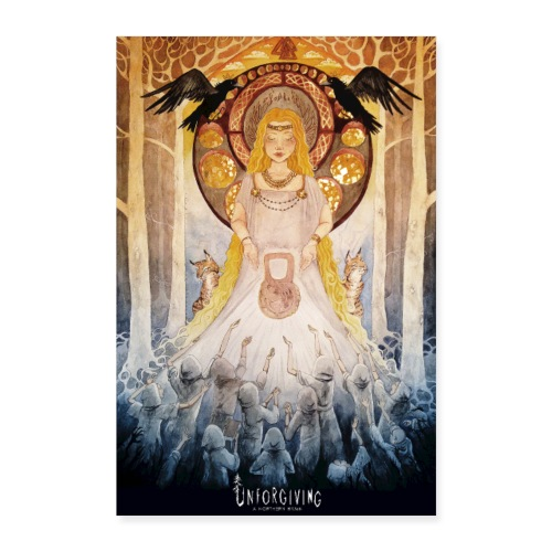 Freya watercolor painting - Poster 24 x 35 (60x90 cm)