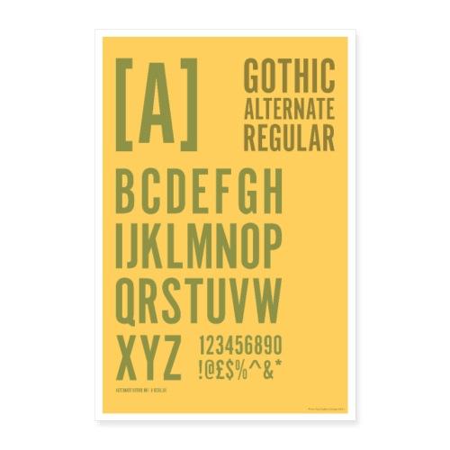 Gothic Alternate Regular Typography Poster - Poster 24 x 35 (60x90 cm)