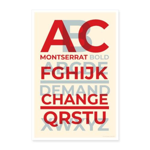 Montserrat Bold Typography Poster - Poster 24 x 35 (60x90 cm)