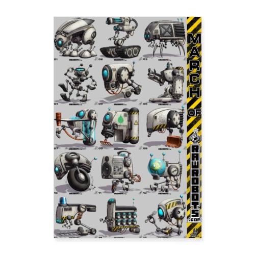 March of Rawrobots 01-15 - Poster 60x90 cm