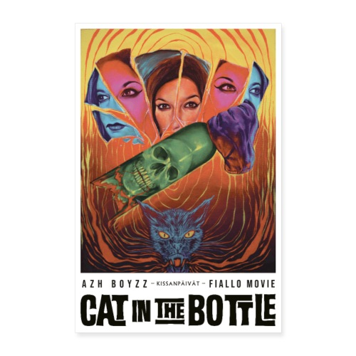Cat in the Bottle / Kissanpäivät - COLOR (1 print) - Juliste 60x90 cm