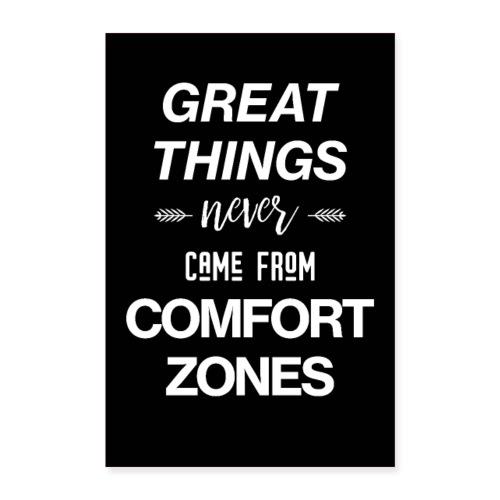 Comfort Zones - Motivational Poster - Poster 60x90 cm