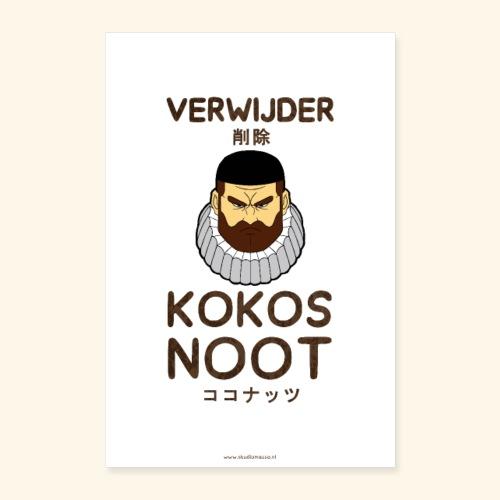 Verwijder Kokosnoot Poster - Poster 60x90 cm