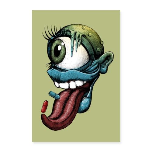 Auge, Mund, Zunge - Poster 60x90 cm