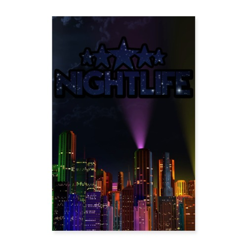 NIGHT LIFE POSTER - Poster 60x90 cm