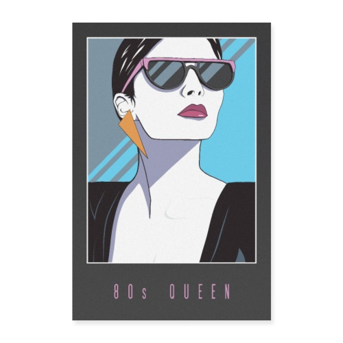 80s QUEEN - Poster 60x90 cm