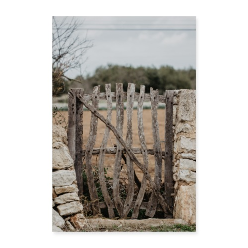 Mallorca Zaun Dorf - Poster 60x90 cm