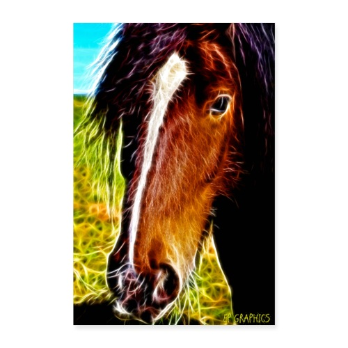 Horse love - Poster 24 x 35 (60x90 cm)