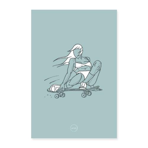 Skater Girl - Poster 60 x 90 cm