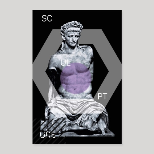 Statue Scup | Poster - Poster 60x90 cm