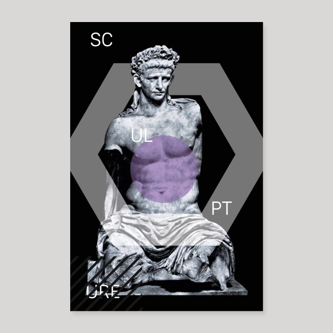 Statue Scup   Poster
