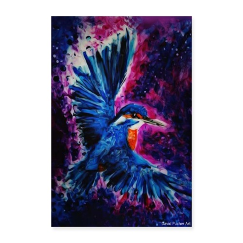 Eisvogel by David Pucher - Poster 60x90 cm