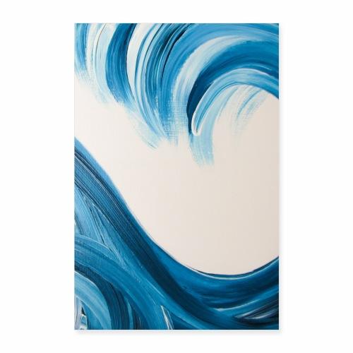 Große Welle hochformat - Poster 60x90 cm