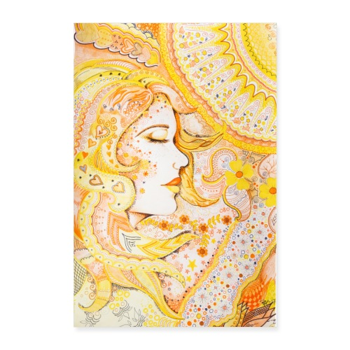 Fröken Sol Poster - Poster 60x90 cm