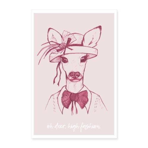 Oh Deer – Rosa - Poster 60x90 cm