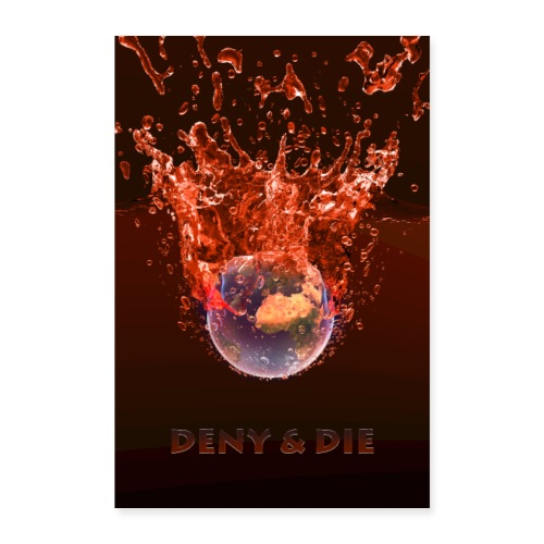 Global Warming Red Edition - Poster 60x90 cm