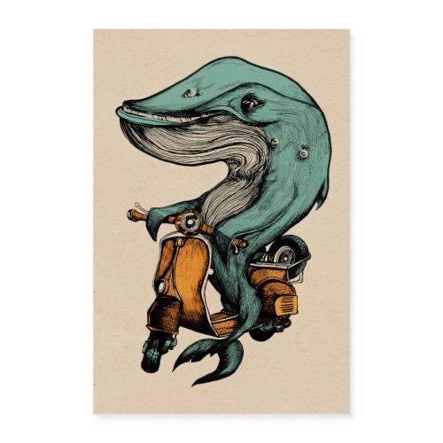 Motorroller Walfisch - Poster 60x90 cm