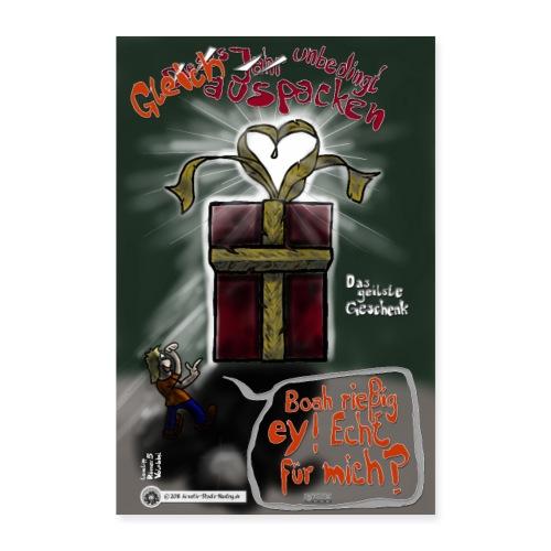 Design Das geilste Geschenk gleich auspacken - Poster 60x90 cm