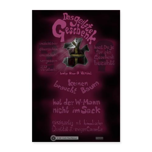 Design Das geilste Geschenk B Seite - Poster 60x90 cm
