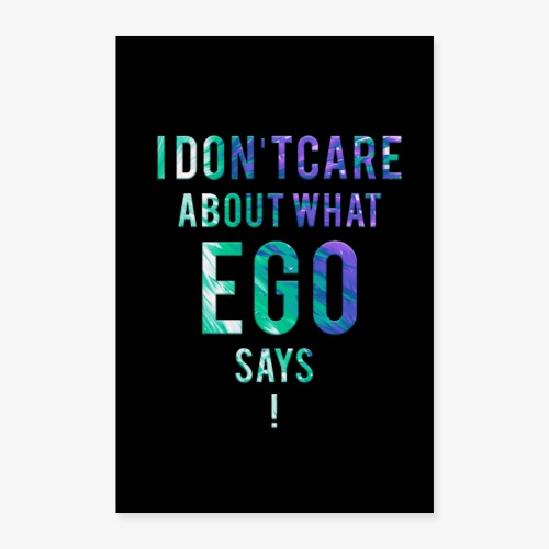 Ego Fighter - Poster 60x90 cm