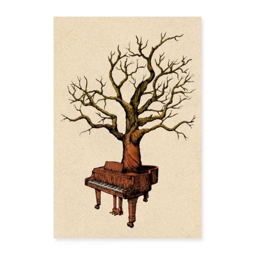 Klavier und Baum - Poster 60x90 cm