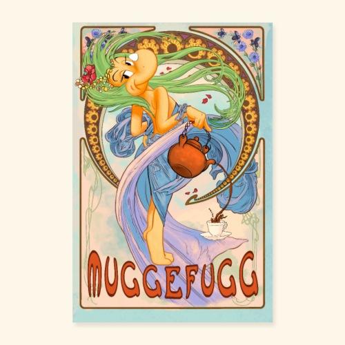 Muggefugg Blau - Poster 60x90 cm