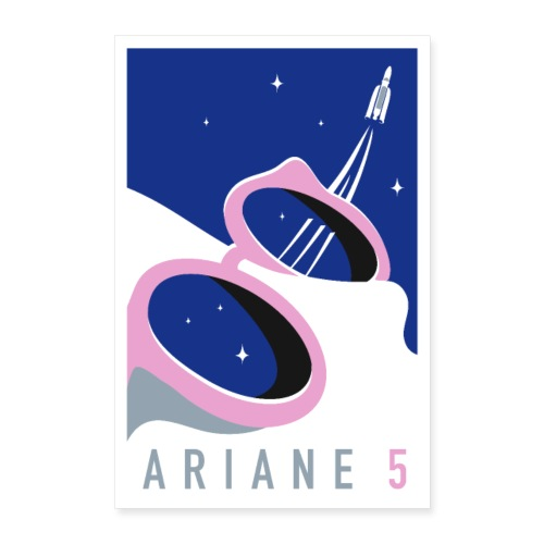 Ariane 5 by Quentin Monge - Poster 24 x 35 (60x90 cm)