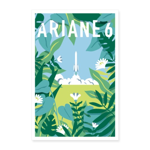 Ariane 6 by Quentin Monge - Poster 24 x 35 (60x90 cm)
