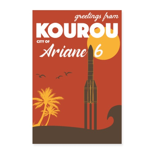 Greetings from Kourou by Felix Design - Poster 24 x 35 (60x90 cm)