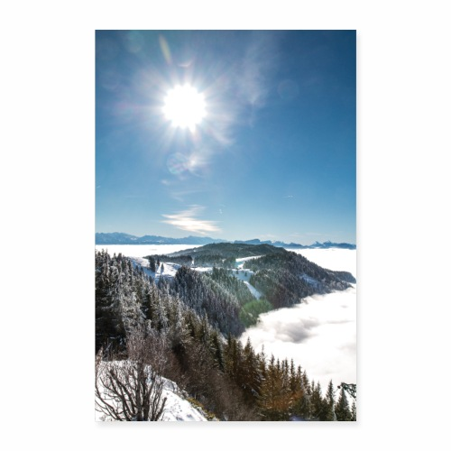 Mer de nuages depuis le Mont Revard - Poster 60 x 90 cm