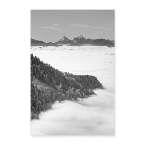 Mer de nuages depuis le Revard - Poster 60 x 90 cm