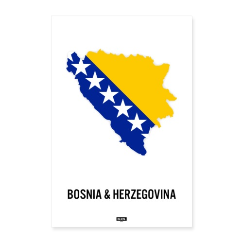 BLKN. x MAP (Bosnia & Hercegovina) - Poster 24 x 35 (60x90 cm)