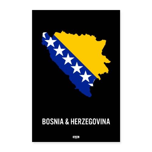 BLKN. x MAP (Bosnia & Herzegovina) - Poster 24 x 35 (60x90 cm)