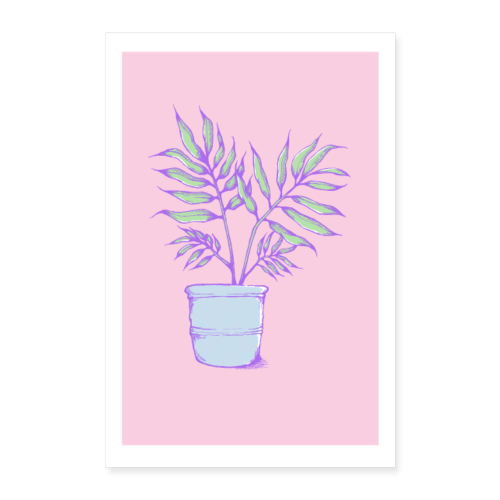 Kleine Palme - Poster 60x90 cm