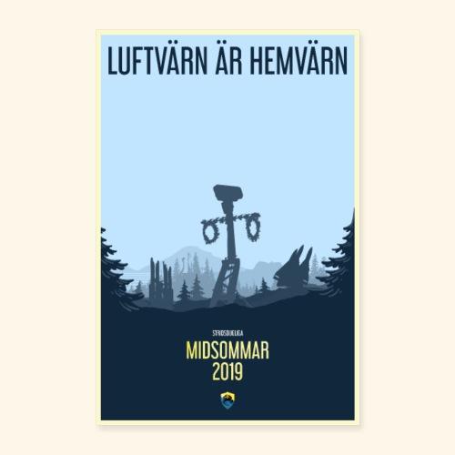 LUFTVÄRN ÄR HEMVÄRN - Poster 60x90 cm