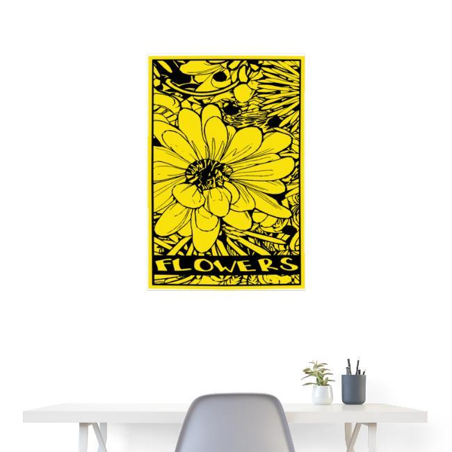bloem geel zwart