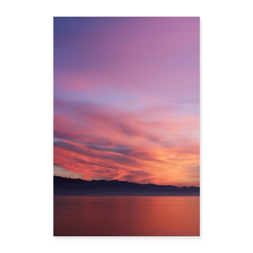 Sundown at Lake of Constance - Poster 60x90 cm