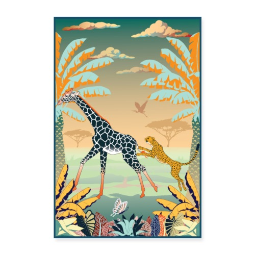 Poster Chasse africaine - Poster 60 x 90 cm